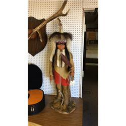 Native American Doll By Leonard Many Trails
