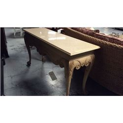 Century Marble Top Sofa Table