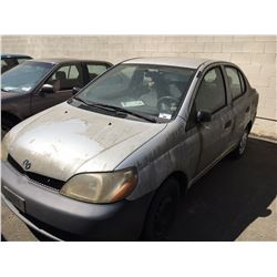 2002 TOYOTA ECHO, 4 DOOR, GREY, VIN # JTDBT123520213302