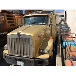 2001 KENWORTH SEMI TRACTOR, YELLOW, VIN # 1XKDDB9X61R963732