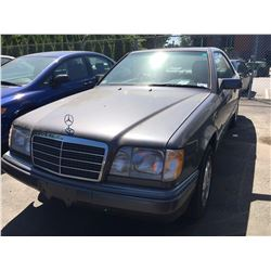 1995 MERCEDES E320C, 2 DOOR COUPE, GREY, VIN # WDBEA52E1SC271271