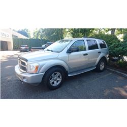 2004 DODGE DURANGO, SUV, GREY, VIN#1D4HB58D34F134007, 224,371KMS, GAS, AUTOMATIC,
