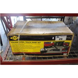 FOLDING STEEL TRUCK RAMP SET - NEW IN BOX