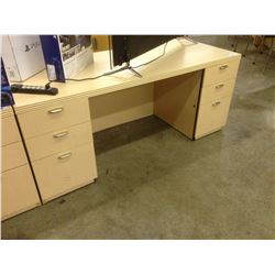 MAPLE 6' X 3' DOUBLE PEDESTAL EXECUTIVE DESK
