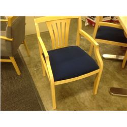 BLUE MAPLE FRAME CLIENT CHAIR