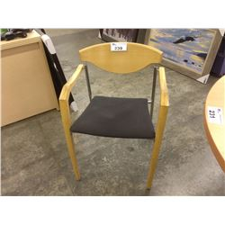 MAPLE FRAME STACKING CLIENT CHAIR