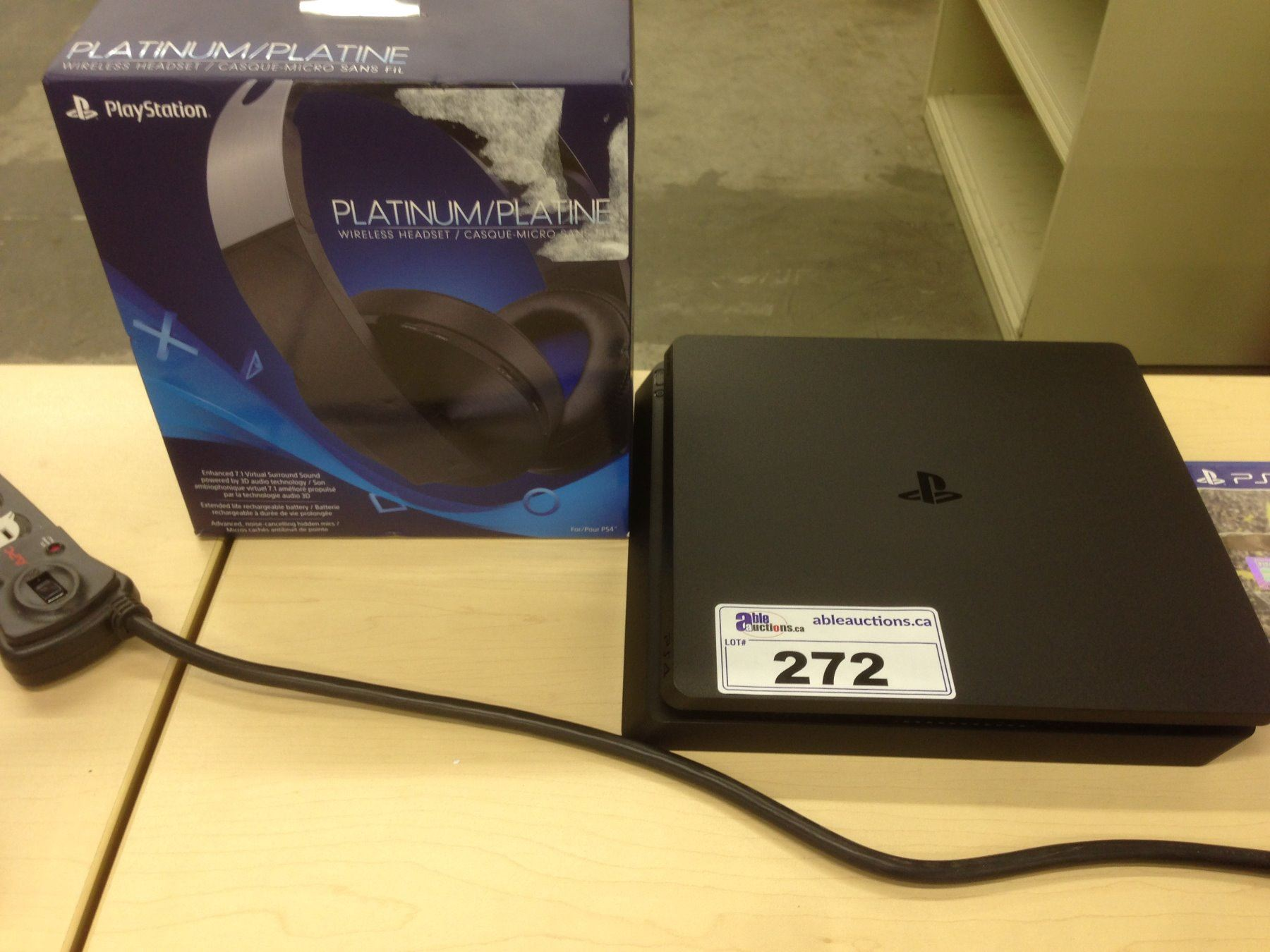 Sony Playstation 4 With Platinum Wireless Headset And Ps4 Game Fifa 17 Image 1 Fifa17 Not