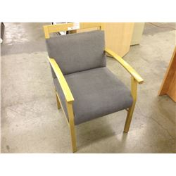 GREY MAPLE FRAME CLIENT CHAIR