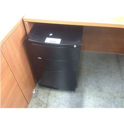 BLACK 3 DRAWER MOBILE PEDESTAL