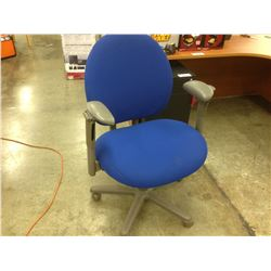 STEELCASE CRITERION BLUE AND GREY ADJUSTABLE TASK CHAIR