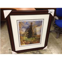 "EMILY CARR ""PINE TREES AND BLUE SKY"" FRAMED LIMITED EDITION PRINT, 300/950"