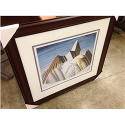 "LAWREN HARRIS ""MOUNT ROBSON"" FRAMED LIMITED EDITION PRINT, 300/950"