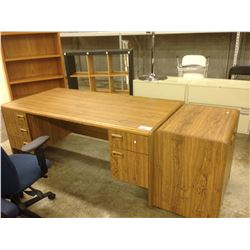 COMPLETE OFFICE WITH DESK, FILE CABINETS, STORAGE AND CHAIRS