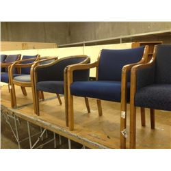 25 MISC. BLUE CLIENT CHAIRS