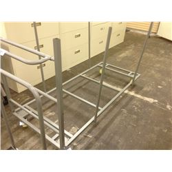 LOT OF 5 MOBILE FOLDING TABLE CARTS