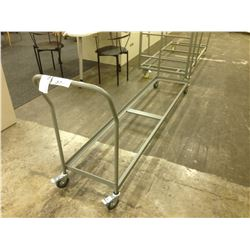 LOT OF 5 MOBILE FOLDING CHAIR CARTS