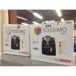 TWO TASSIMO T47+ COFFEE MAKERS