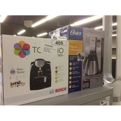 TASSIMO T47+ AND OSTER 10 CUP DIGITAL COFFEE MAKER