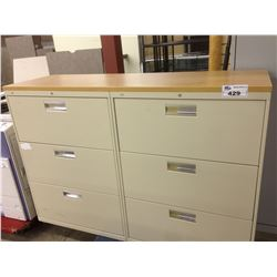 6 DRAWER DOUBLE WIDE LATERAL FILE CABINET