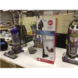 LARGE LOT OF ASSORTED VACUUM CLEANERS INC. DYSON AND HOOVER, NOT TESTED
