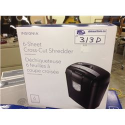INSIGNIA 6 SHEET CROSSCUT SHREDDER