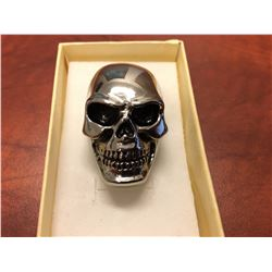 MAN'S HEAVY STAINLESS STEEL SKULL BIKER RING