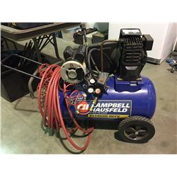 CAMPBELL HAUSFELD AIR COMPRESSOR WITH 2 HOSE LINES
