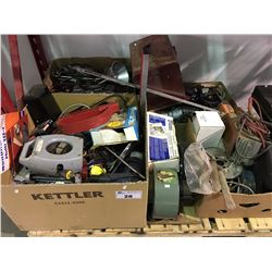 PALLET LOT FILLED WITH ASSORTED TOOLS, HARDWARE & MISCELLANEOUS