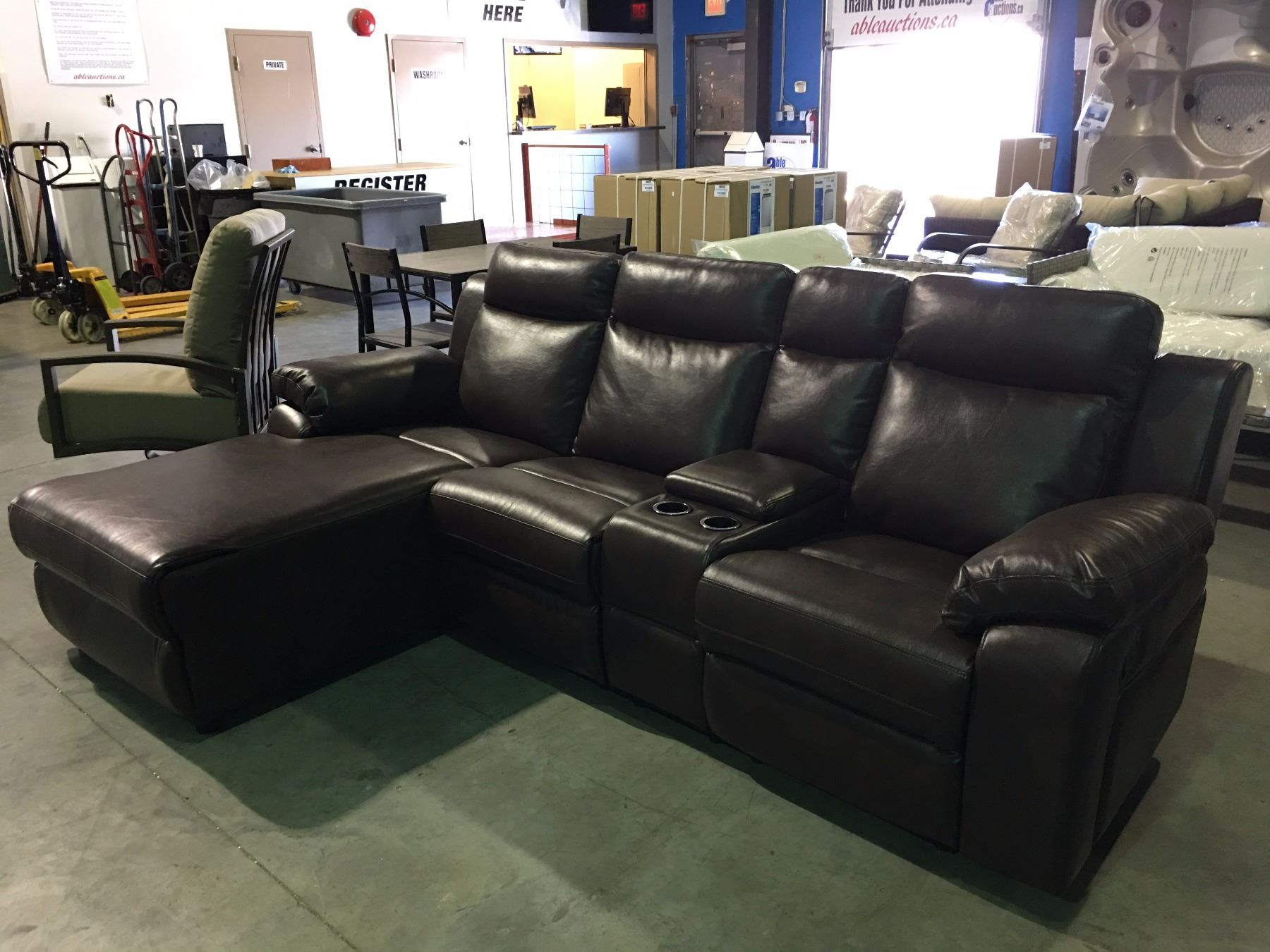 2 piece brown leather reclining sectional sofa for 2 piece sectional sofa with recliner