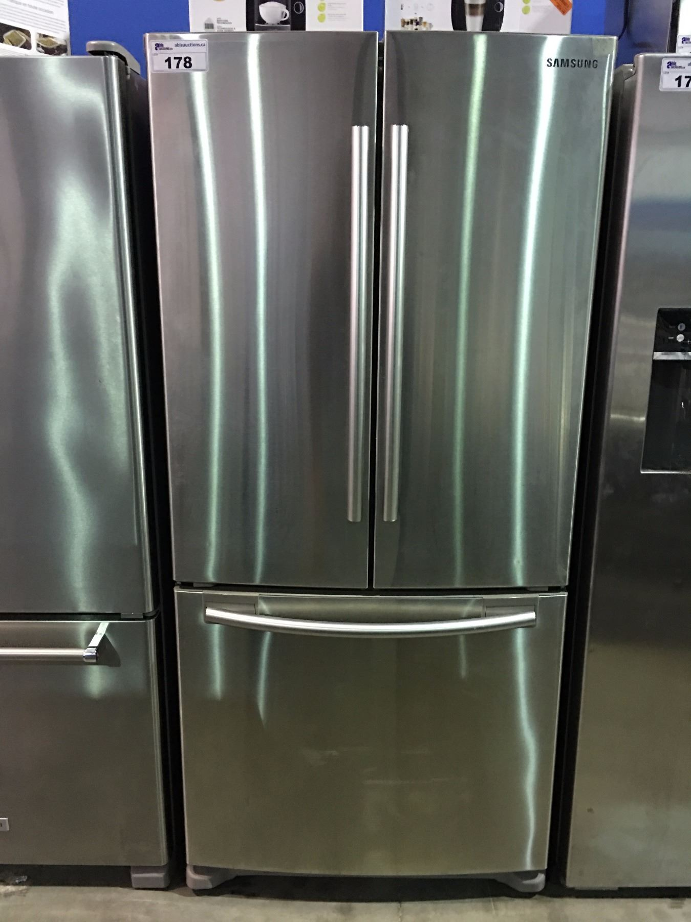 Samsung Stainless Steel 3 Door Refrigerator Minor Scratch