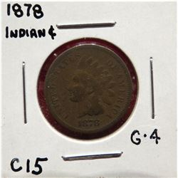 1878 Indian Head Cent G4. $20-40