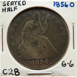 1856 O Seated Liberty Half Dollar VG8. $40-60