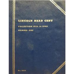 Whitman Blue Book Lincoln Head Cents. Collection 1909-1940, Number One. No. 9004. Note* Incomplete s