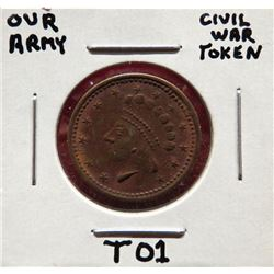 Our Army Civil War Token $15-25