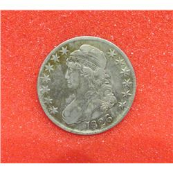 1826 Capped Bust Half Dollar VF35. $125-175