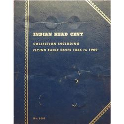 Whitman Blue Book Indian Head Cents. Collection includes Flying Eagle Cent & copper-nickel cents. Ma