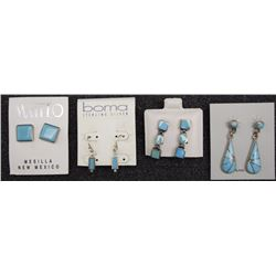 FOUR PAIR EARRINGS