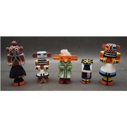 FIVE HOPI RT 66 DOLLS