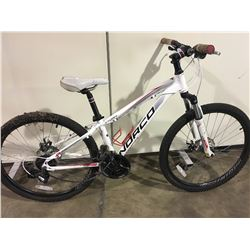 WHITE NORCO STORM 24 SPEED FRONT SUSPENSION MOUNTAIN BIKE WITH FULL DISC BRAKES