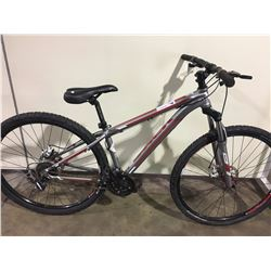 GREY TREK WAHOO 24 SPEED FRONT SUSPENSION MOUNTAIN BIKE WITH FULL DISC BRAKES