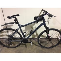GREY NORCO STORM 24 SPEED FRONT SUSPENSION MOUNTAIN BIKE WITH FULL DISC BRAKES