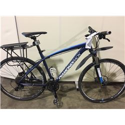 BLUE DIAMONDBACK OVERDRIVE 27 SPEED FRONT SUSPENSION MOUNTAIN BIKE WITH FULL DISC BRAKES