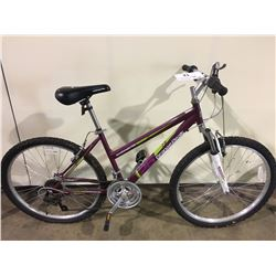 PURPLE ROADMASTER GRANITE PEAKS 18 SPEED FRONT SUSPENSION MOUNTAIN BIKE