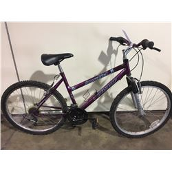 PURPLE DUNLOP SNOWBIRD 21 SPEED FRONT SUSPENSION MOUNTAIN BIKE