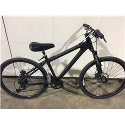 BLACK 24 SPEED FRONT SUSPENSION MOUNTAIN BIKE WITH FULL DISC BRAKES