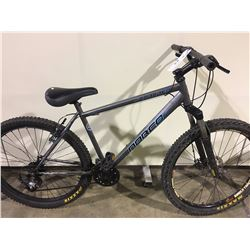 GREY NORCO SCORCHER 21 SPEED FRONT SUSPENSION MOUNTAIN BIKE WITH FULL DISC BRAKES