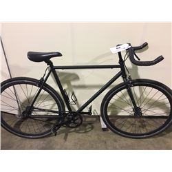 BLACK SINGLE SPEED ROAD BIKE