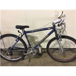 2 BIKES: BLUE INFINITY FRONT SUSPENSION MOUNTAIN BIKE & BLUE ARASHI FULL SUSPENSION MOUNTAIN BIKE