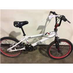 2 BIKES: WHITE SIMS STUNT BIKE & RED NEXT FULL SUSPENSION MOUNTAIN BIKE