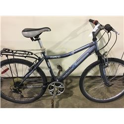2 BIKES: GREY INFINITY FRONT SUSPENSION MOUNTAIN BIKE & BLUE RALEIGH MOUNTAIN BIKE